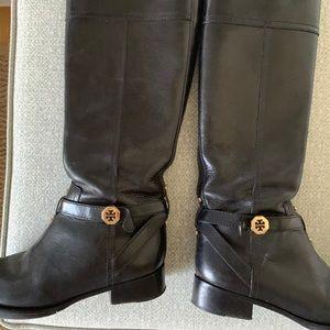 Tory Burch black riding boots